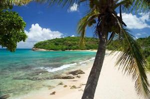 Чудесный пляж Palm Beach не дает забыть о Карибском море