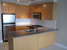 new two bedroom apartment kitchen washer dryer Simon Fraser University