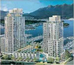 waterfront view one-bedroom sale vancouver cascina
