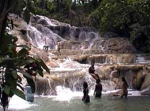 Водопад Dunn's River Falls, карибский отдых